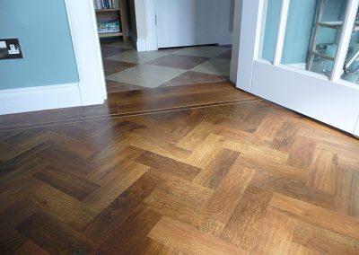 Herring bone effect from Karndean flooring